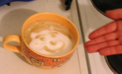 Face in coffee pot